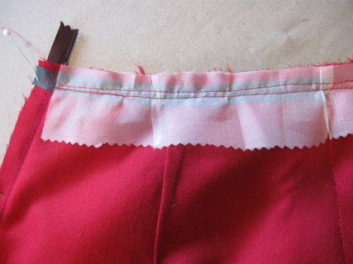 skirt silk organza interfacing
