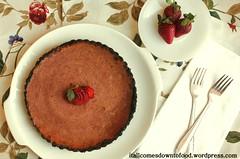 strawberry pie with oreo crust