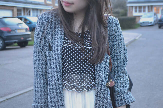 daisybutter - UK Style and Fashion Blog: what i wore, prints, AW12, SS13, longchamp le pliage, river island, ever ours