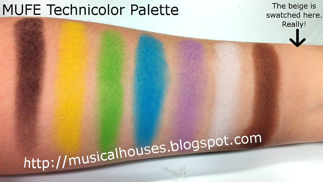 MUFE Technicolor Palette Swtches