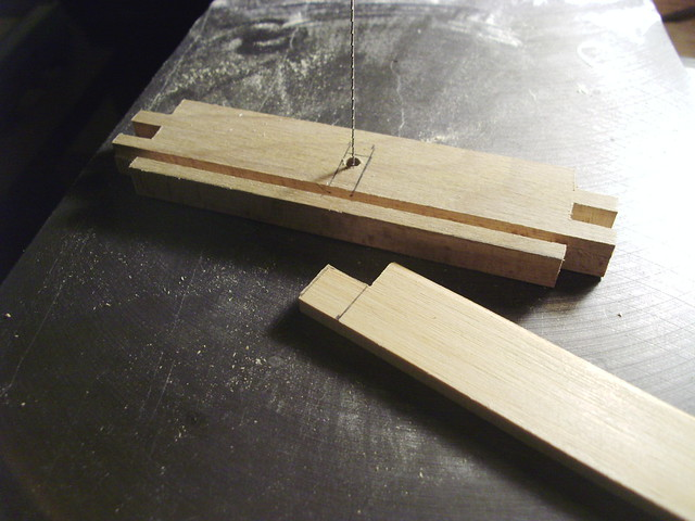 Scrolling out a mortise for the tenon...