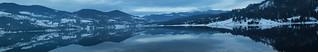 Panorama of Lake Colibita - 19694 x 3218 pixels