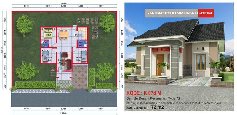 Desain Serupa. Rumah Sangat Sederhana Tapi Menawan & Sample Desain Perumahan Type 21 36 54 \u0026 72 @ Jasa Desain Rumah