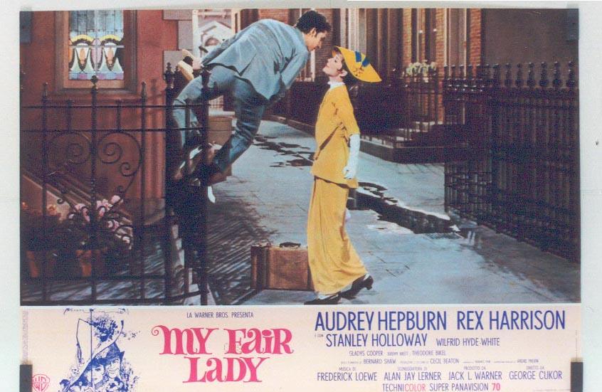 my fair lady - audrey hepburn - rex harrison - 1964 - poster