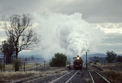 3026 Approaching Koowawatha, Blayney to Harden Line, NSW, 12th June 1982.