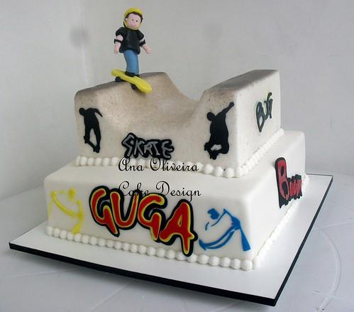 Bolo Skate by Ana Oliveira Cake Design