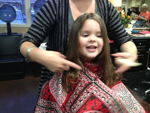 Annie's first haircut