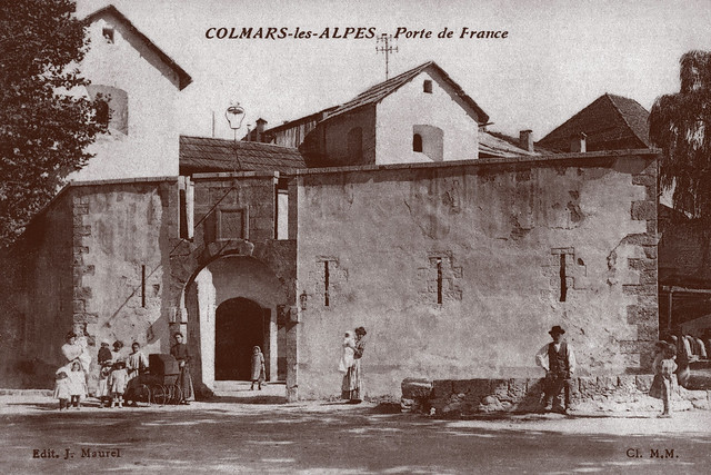 Carte postale ancienne la porte de france colmars les for Porte carte postale sur pied