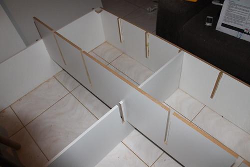 fotos da montagem da estante