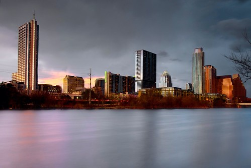 city longexposure sunset urban lake storm water rain clouds america austin river us texas unitedstates threatening tx ladybird atx uploaded:by=flickrmobile flickriosapp:filter=nofilter