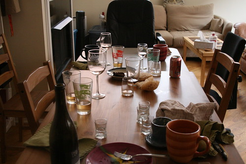 Table, the morning after a few rounds.