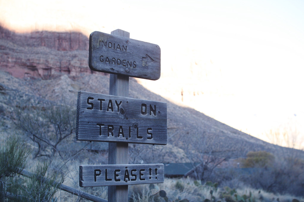 trail signs