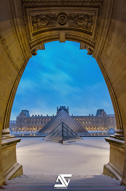 Snow @ Louvre / Sunrise