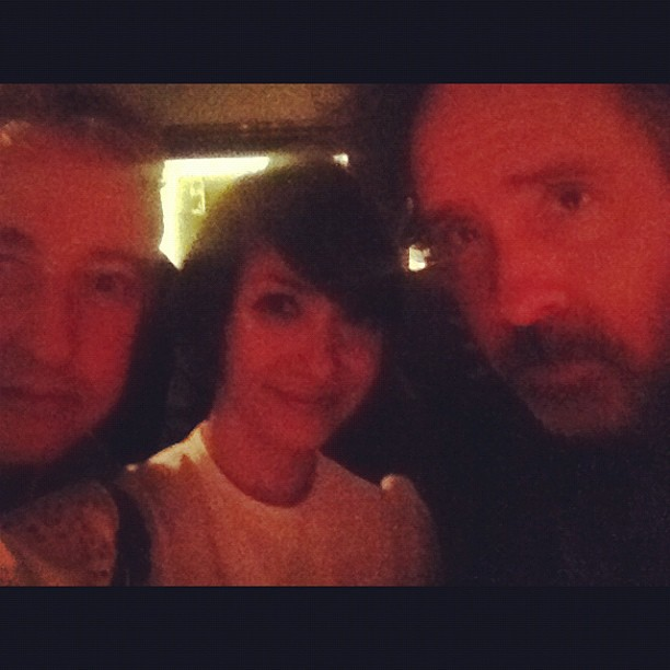 tim burton is glowing.