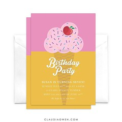 I'd love to have some ice cream right now! You can find this card @pingginvitations #birthdayparty