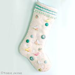 My hand made embellished stocking