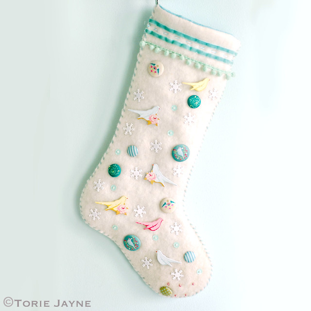My hand made embellished stocking