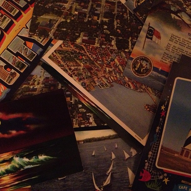 Found a treasure trove of vintage post cards, sending heaps of them out. #travel #watchout
