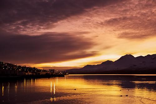sky mountains reflection clouds sunrise iceland village ísland ský himinn speglun fjöll explored sandfell sólarupprás 25faves fáskrúðsfjörður faskrudsfjordur þorp jónínaguðrúnóskarsdóttir