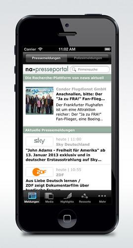 IPhone App für Presseportal.de (Vers. 2.3.)