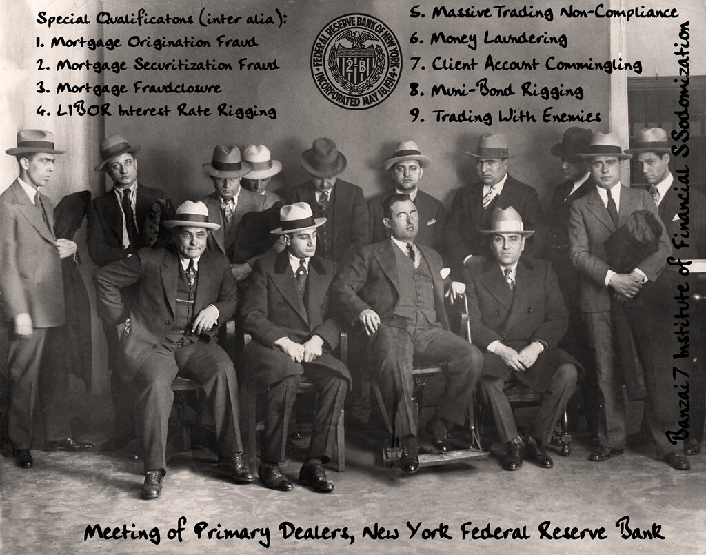 ARCHIVE PHOTOGRAPH NY FED PRIMARY DEALERS