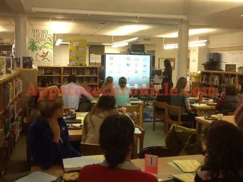 Sandy Hook Teachers Meet To Discuss Technology in the Classroom- iPads- Stuff we've talked about quite often on this blog- photo by the principal- Very Sad