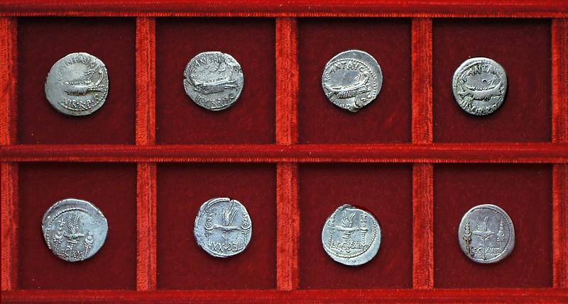 RRC 544-36-37-37-39 LEG XX, LEG IXX variety, LEG XXI, LEG XXIII Antony legions, Ahala collection Roman Republic