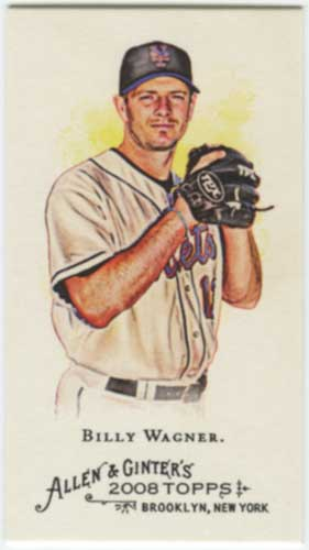 2008 Allen & Ginter Billy Wagner Mini