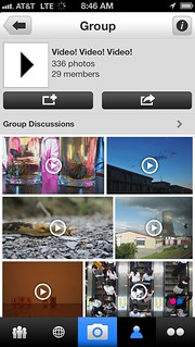 Group page in iPhone App