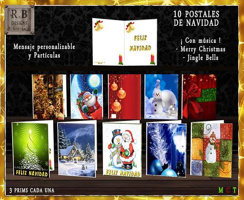 55l$ PROMO ! - *RnB* Postales de Navidad - Musica, Mensaje y Particulas