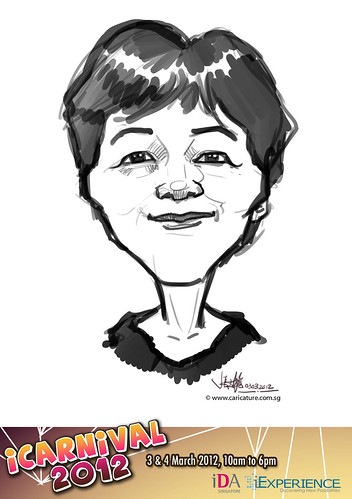 digital live caricature for iCarnival 2012  (IDA) - Day 1 - 88
