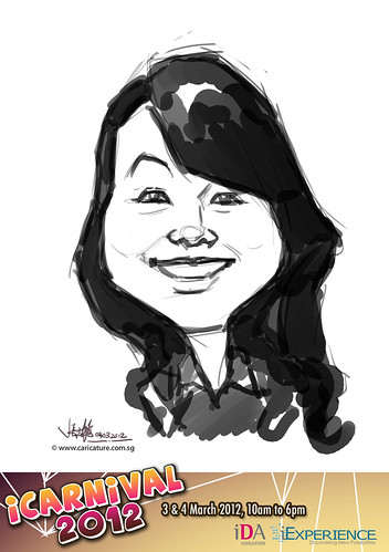 digital live caricature for iCarnival 2012  (IDA) - Day 2 - 1