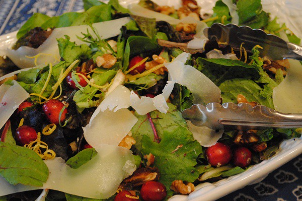 Fall Salad with Cranberries and Nuts