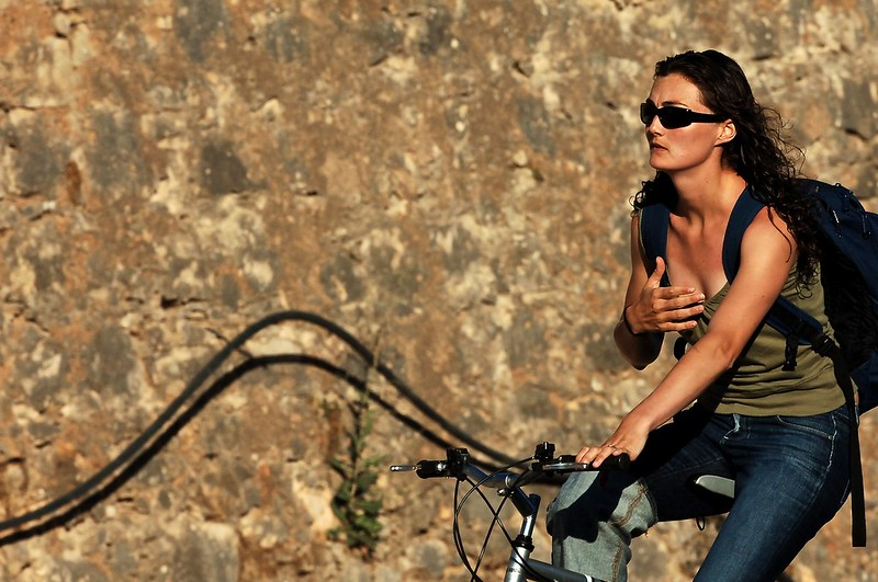 Woman in a Bicycle