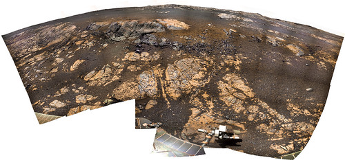 OPPUTUNITY sol 3132 - 3145 panorama Matijevic Hill 10432 x 4862 pixel