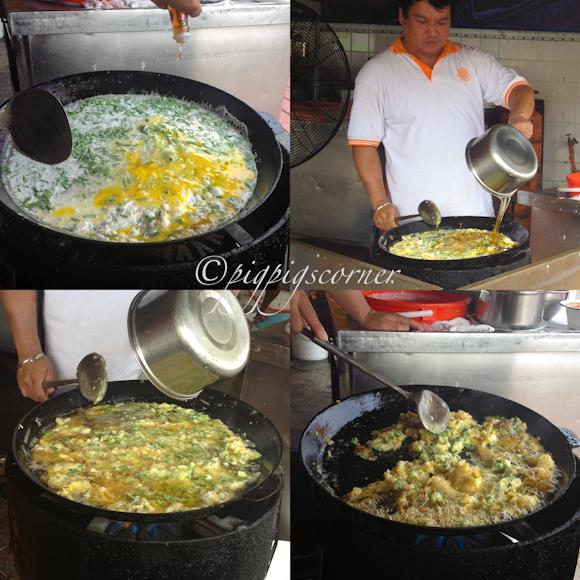 Seng Thor Coffee Shop - oyster omelette-penang