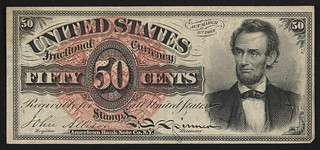 Fractional currency 50cents