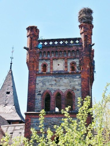 Wieża zamku w Łące Prudnickiej