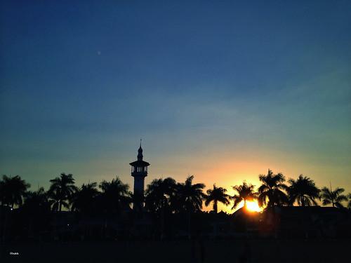 silhouette landscape masjid blitar alunalunblitar