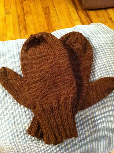 Brother's Christmas mittens for Christmas 2013. by BlueDragon2