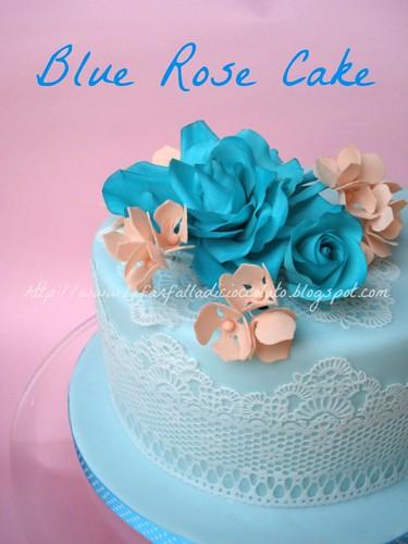 Blu rose cake
