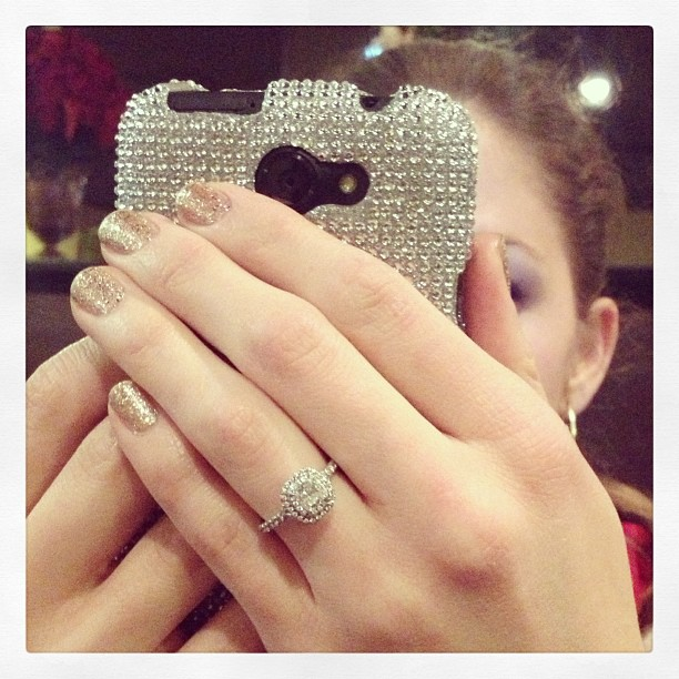 Love how @pjsteph is all blinged out! #sparkle #tiffany #orly #glitter