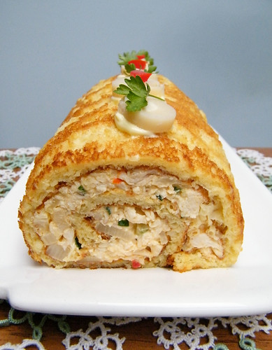 Pionono de Pollo y Palmitos | Chicken Salad Roll with Hearts of Palm by katiemetz, on Flickr