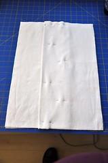 Blanket Repurposed to Prefold Diaper