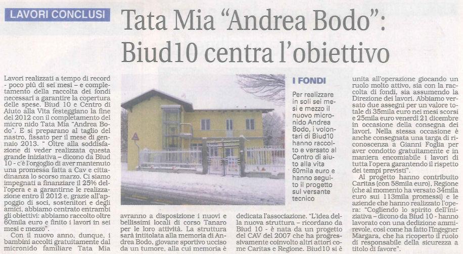 """La Sesia - Tata Mia """"Andrea Bodo"""" : Biud10 centra l'obiettivo"""