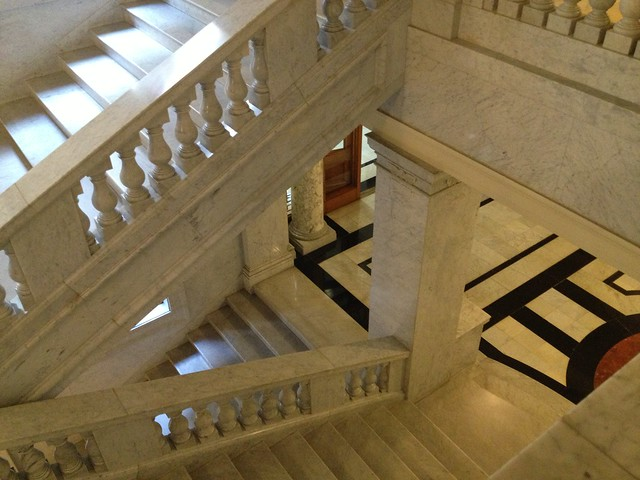 Marble stairs, US Customhouse