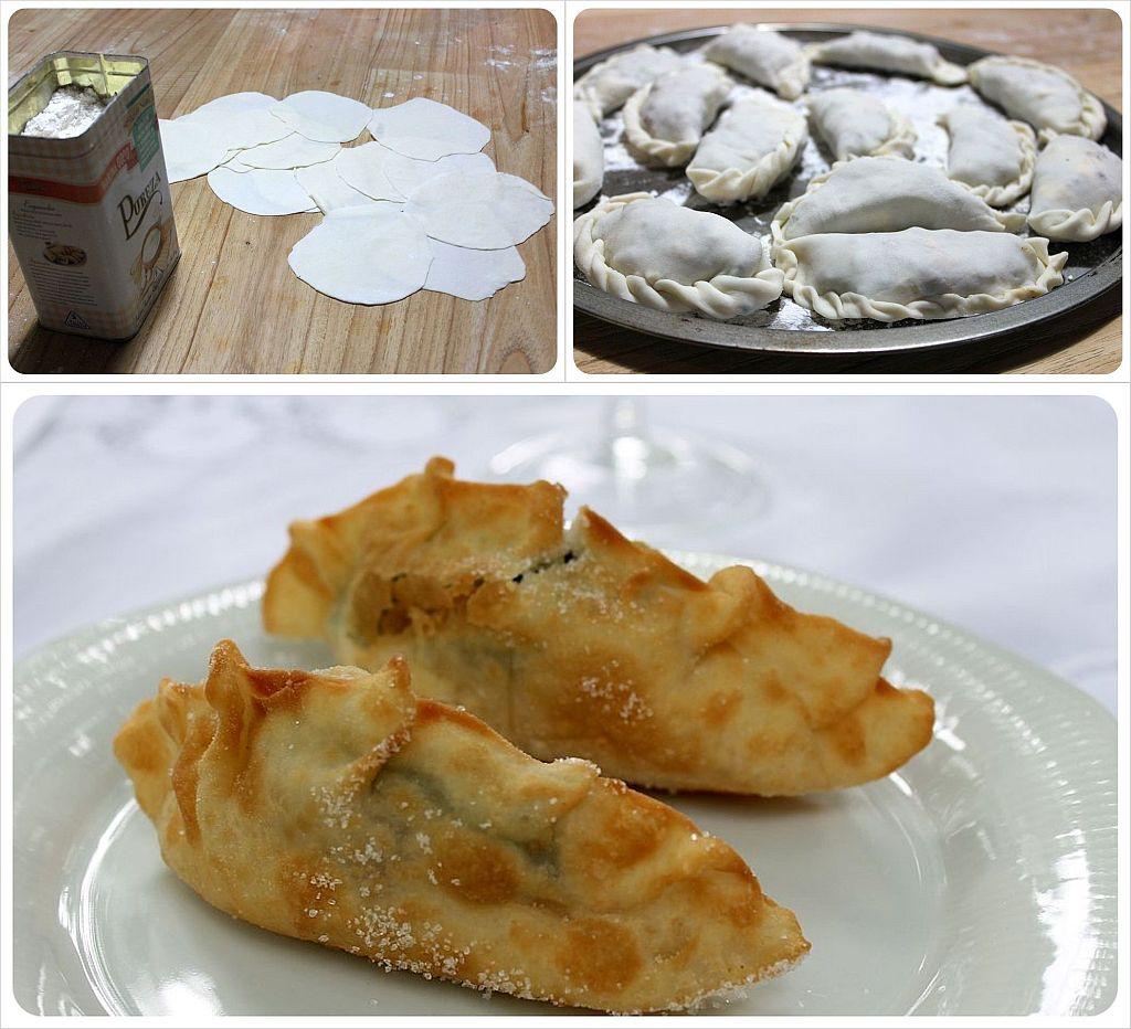 Teresita empanada making