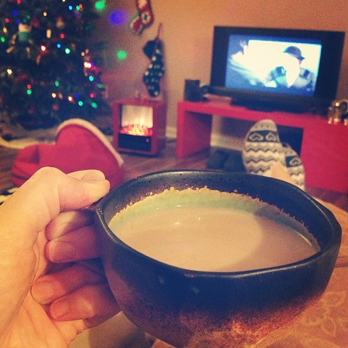 Downton Abbey Christmas episode and a cup of tea on a snowy evening. Still Christmas, as far as I'm concerned!