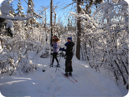 Cross-county skiing
