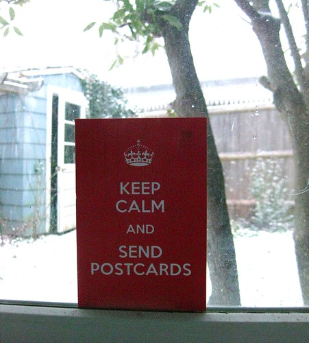 Keep calm and send postcards